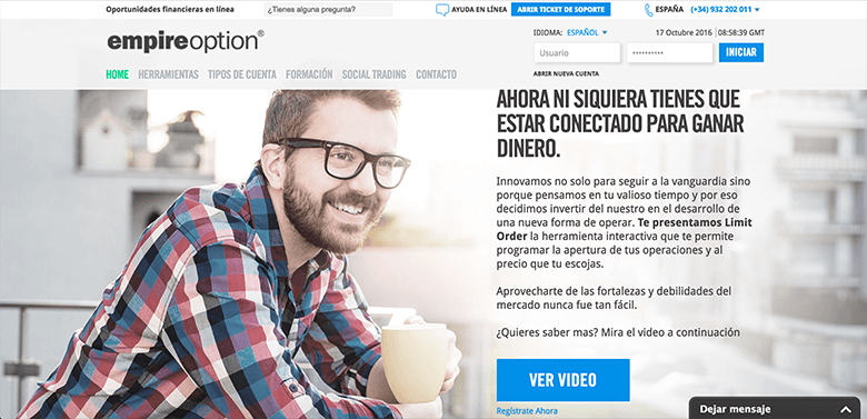 Plataforma de opciones binarias - EmpireOption