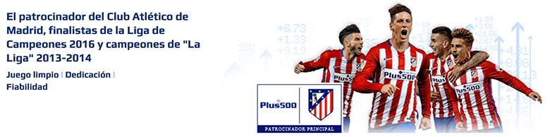 Plus500 - Patrocinadores oficiales del Atlético de Madrid
