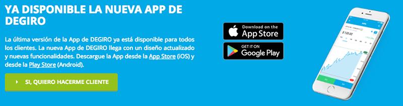 app para iOS y android - DeGiro