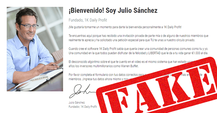 Julio Sanchez es un estafador