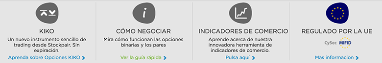 Tipos de operación en StockPair