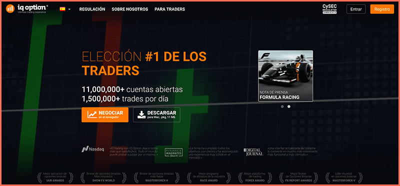 IQ Option - Plataforma Web
