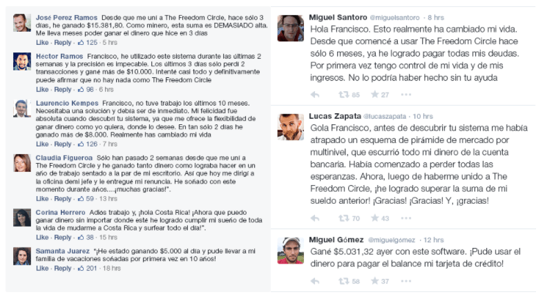 opiniones y comentarios de the freedom circle