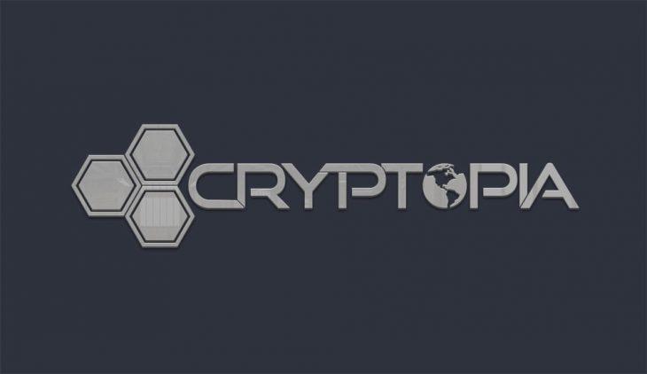 Cryptopia logo en negro y blanco