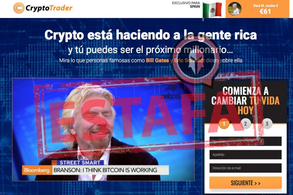 CryptoTrader es estafa
