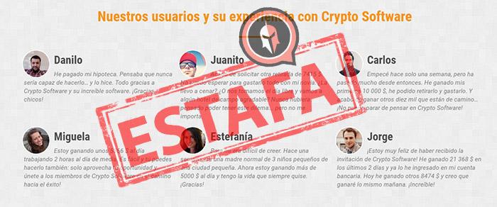 comentarios falsos de usuarios falsos de cryptosoft