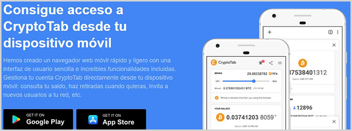 Podemos descargar Cryptotab Browser para Windows, Mac, Android y iPhone