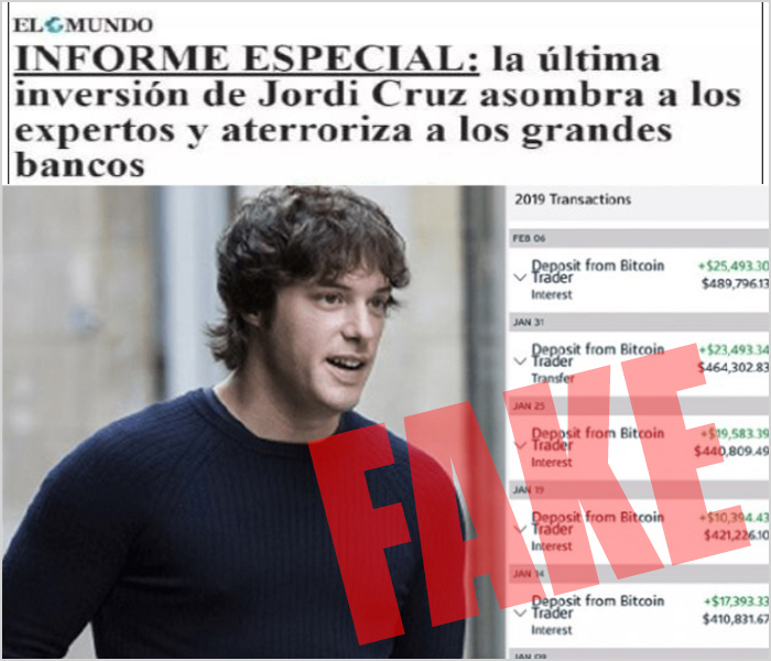 noticias falsas sobre jordi cruz y bitcoin era