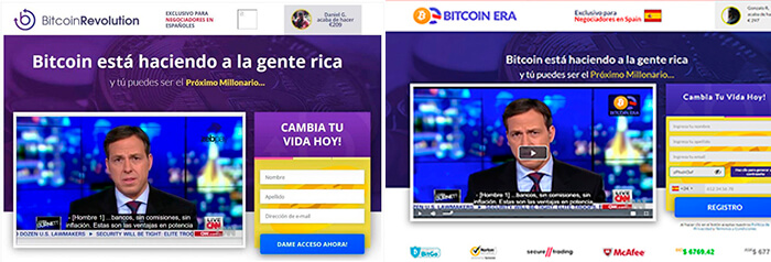 estafas iguales a Bitcoin Up